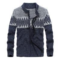 セーター ニット メンズ 柄物 カーディガン 前開き トップス アウター 羽織り   当冬に欠かせな...