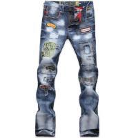 メンズ デニム パンツ ローライズ ジーンズ ファッション スリム ダメージ  サイズ28/ヒップ2...