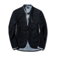 テーラードジャケット メンズ ジャケット ブレザー スーツ アウター 1ボタン無地 ブラック  ■サ...