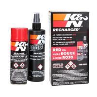 K&Nのメンテナンスキット エアフィルター専用フィルターオイル 99-0504 と洗浄用クリ...