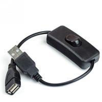 USB Aオス-Aメス 延長ケーブル 《ブラック》 オン/オフ スイッチ付き 電源スイッチ .