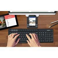 全国送料無料 パソコン PC キーボード ロジクール K375S マルチ デバイス ワイヤレス キーボードとスタンドのコンボ (Windows, アンドロイド 5.0Mac OS, iOS