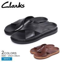(期間限定価格) CLARKS クラークス サンダル トレース クロス TRACE CROSS 26141969 26141959 メンズ レザー クロス 革