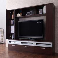 《収納棚&AVラック付テレビボード/クローズタイプ,プラズマ,液晶,薄型テレビ台,46型対応,リビン...