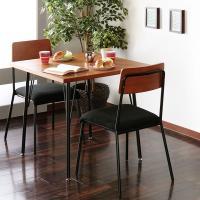 《 ダイニングセット 2人用 3点セット カフェテーブル 椅子 テーブル 幅78cm チェア 2脚 ...