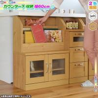 《 カウンター下 マガジンラック 幅60cm 高さ80cm 薄型 扉収納 食器棚 キッチン収納 本立...