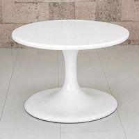 《ローテーブル 直径60cm/白(ホワイト) ラウンドテーブル サイドテーブル 円卓 ラウンドローテ...