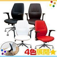 《デスクチェア オフィスチェア パソコンチェア ロッキング機構搭載チェア 椅子 ステッチ仕上げ - ...