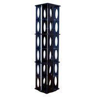 《タワーラック6段 高さ132.3cm 回転ラック 収納ラック CDラック DVDラック ブルーレイ...