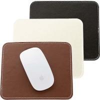 ◆|革製品|  ビジネスライフを演出する、ワンランク上のレザー製スクエア型マウスパッド。