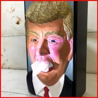 トランプ大統領グッズ  第45代アメリカ合衆国大統領のトランプさんがティッシュケースになっちゃいまし...