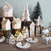 クリスマス mature LEDライト ハウス&スター C クリスマス オーナメント 飾り おしゃれ アンティーク オブジェ インテリア