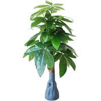 観葉植物 フェイクグリーン 85cm 造花 人工観葉植物 大型 軽量 インテリア おしゃれ 雑貨 鉢植え 緑 ギフト(パキラ)
