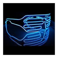 Import.LAB 光る LED サングラス コスチューム用小物 ブルー 横14.5cm×縦5.6cm×奥行き15cm