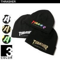 THRASHERの刺繍ニット帽です。元々はサンフランシスコで創刊したスケーターのためのマガジン【TH...
