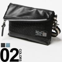 携帯や財布などがすっきり収まるスッキリとしたサイズ感が特徴のサコッシュです。本体一部に施したフェイク...
