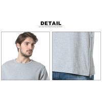 エイケイエムコンテンポラリー AKM Contemporary 綿100% サイドジップ クルーネック 半袖 BIG Tシャツ AKMAST710