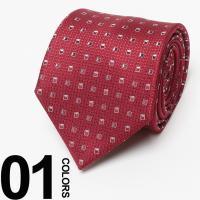 スクエア状の小紋柄がデザインされたネクタイです。素材にはシルクを100%使用して作りました。インパク...