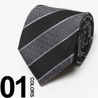 素材にシルクを100%使用して作られたネクタイです。総ロゴやストライプ柄がさりげなくスーツスタイルの...