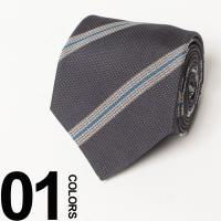 スーツスタイルのワンポイントアクセントになってくれるストライプネクタイ。素材にはシルクを100%使用...