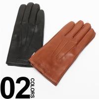 ブランドロゴが入ったレザー手袋です。ビジネスからカジュアルまで幅広く使えるシンプルなデザイン。落ち着...