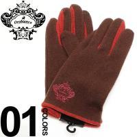 ウール素材で暖かい手袋。ワンポイントで入っているブランドアイコンがオシャレです。タッチパネル対応なの...