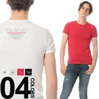 カジュアルシーンにおすすめのクルーネック半袖Tシャツ。バックのウイングプリントが印象的な一枚です。ス...