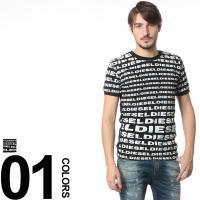 カジュアルスタイル定番のクルーネックTシャツ。インパクトのある総柄デザインだから着用するだけでコーデ...