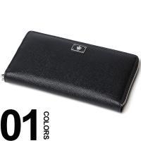 高級感のある型押しレザーを使用した長財布です。フロントに配したロゴプレートがアクセント。使いやすいラ...