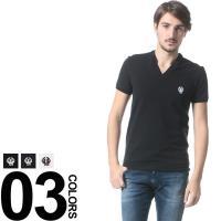 胸元の「DG」ロゴ&エンブレム刺繍が特徴的な半袖Tシャツです。首元はシャープなVネックで大人の装いに...