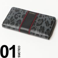レオパード柄×カラーラインが目を引く長財布です。メタリックカラーのロゴがリュクスなアクセント。ラウン...
