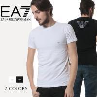 一枚でクールに決まる「エンポリオアルマーニ」の半袖Tシャツです。バックにあしらった存在感のあるブラン...