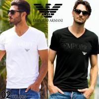 スッキリとしたVネックでスタイリッシュに着用していただける「エンポリオアルマーニ」のアンダーTシャツ...