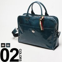 艶があり高級感のあるレザーを使用したブリーフバッグです。フロントに配した「オロビアンコ」のロゴプレー...