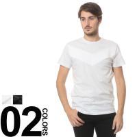 デニム切り替えのデザインが印象的なクルーネック半袖Tシャツ。単品使いからレイヤードスタイルまで幅広く...