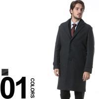 冬のビジネススタイルの定番であるチェスターコート。カシミヤ混のリュクスな素材感も魅力です。ロゴ入りの...