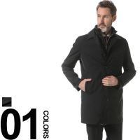 ウィンターシーズンのスーツスタイルに重宝するステンカラーコートです。中綿入りのライナーであたたかさを...