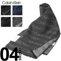 カルバン クライン Calvin Klein マフラー 総ロゴ フリンジ ブランド メンズ ビジネス CKHKC73660F8