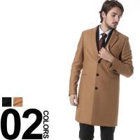 スーツスタイルの品格を上げる、カシミヤ混のチェスターコート。ベーシックなデザインながら、内ポケットの...