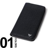 上品なメッシュ編みで仕上げた長財布です。開けると中身が一望できるラウンドファスナータイプ。本体一部に...