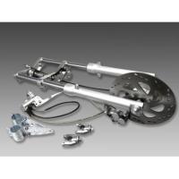 ・エイプ50/100に適合するフロントディスクブレーキ&フロントショックです。・アルミCNC加工ブリ...