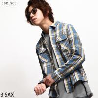 カジュアルシャツ メンズ  【CORISCO】より、長袖チェックシャツが登場。シンプルデザインで様々...