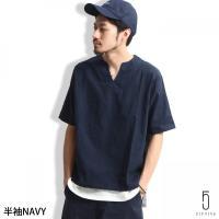 Tシャツ メンズ  オリジナルブランド【ZIP FIVE】より、清涼感溢れるパナマプルオーバーシャツ...
