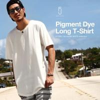 Tシャツ メンズ  【ZIP FIVE】より、ベーシックデザインのロング丈半袖Tシャツが登場。  着...