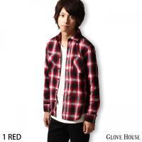 カジュアルシャツ メンズ  【GLOVE HOUSE】より、鮮やかな発色が魅力的なオンブレチェックシ...