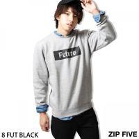 トレーナー メンズ  【ZIP FIVE】より毎年人気のプリントトレーナーが、モノトーンデザインを引...