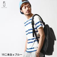 Tシャツ メンズ  【ZIP FIVE】2016 S/S COLLECTIONから、ボーダー半袖クル...