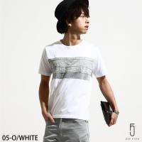 Tシャツ メンズ  オリジナルブランド【ZIP FIVE】より、フロント部分をニットで切り替え、大胆...
