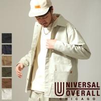 カバーオール メンズ ワークジャケット コーチジャケット ジャケット ブルゾン 無地 ライトアウター UNIVERSAL OVERALL ファッション (u7434225)