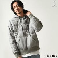 中綿入りジャケット メンズ  【ZIP FIVE】より、旬なルックスの中綿入りプルオーバーフーディが...